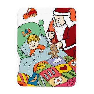Santa's Visit II Rectangular Photo Magnet