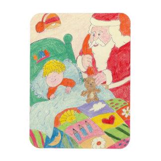 Santa's Visit Rectangular Photo Magnet