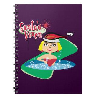 Santa's Vixen Spiral Note Books