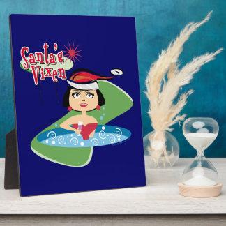 Santa's Vixen Photo Plaques