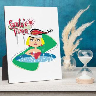 Santa's Vixen Photo Plaque