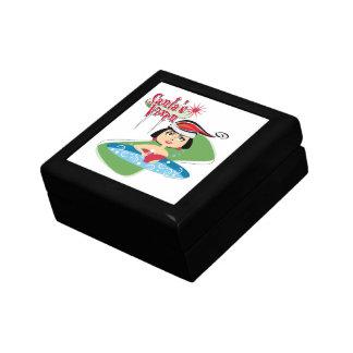 Santa's Vixen Small Square Gift Box
