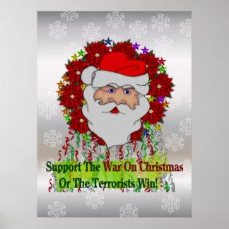 Santa's War On Xmas Print