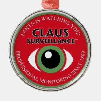 Santa's Watching You Christmas Ornament