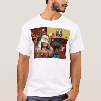 Santa's Welsh Terriers (TWO) T-Shirt