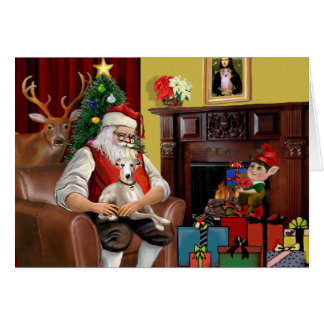 Santa's Whippet Card