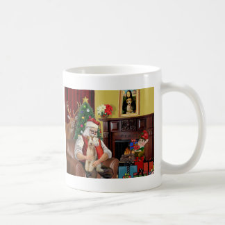 Santa's Wire Fox Terrier (#3) Coffee Mug