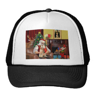 Santa's Wire Fox Terrier (#3) Hat