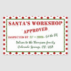 Santa's Workshop Approved & Inspected Gift Tag