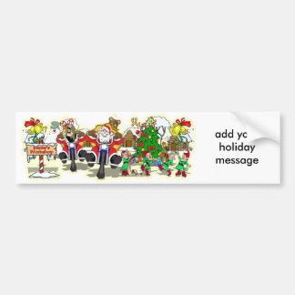 Santa's Workshop Car Bumper Sticker