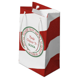 Santa's Workshop Christmas Small Gift Bag