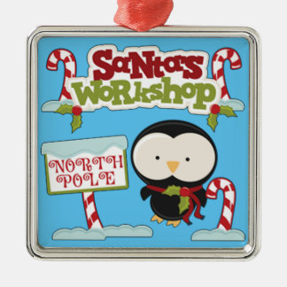 Santa's Workshop Penguin Christmas Ornament