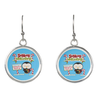 Santa's Workshop Penguin Earrings