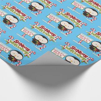 Santa's Workshop Penguin Wrapping Paper