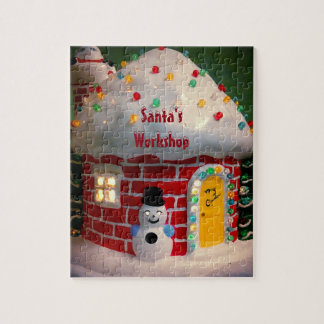 Santa's Workshop Photo Puzzle with Gift Box
