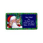 Santa's Yorkies at Christmas Labels