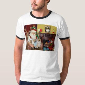 Santa'sTwo Pomeranians T-Shirt