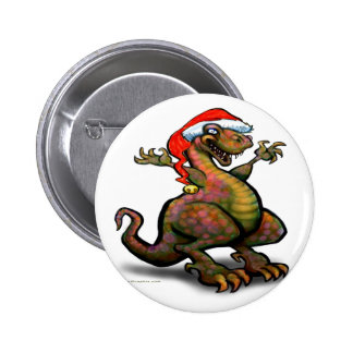 SantaZilla 6 Cm Round Badge