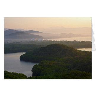 Santiago Bay Sunrise Card