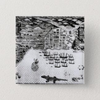 Santiago, Cape Verde, 1589 15 Cm Square Badge
