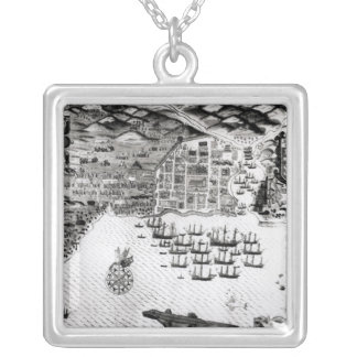 Santiago, Cape Verde, 1589 Silver Plated Necklace