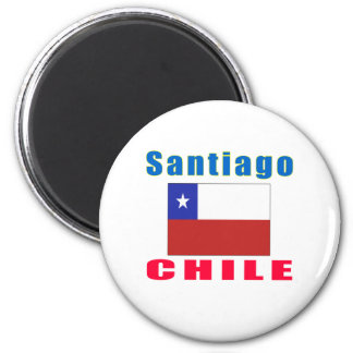 Santiago Chile capital designs 6 Cm Round Magnet