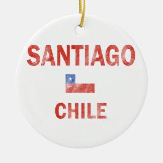 Santiago Chile designs Christmas Ornament