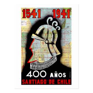 Santiago De Chile Postcard