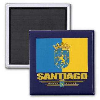 Santiago de Chile Square Magnet
