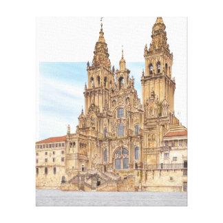 Santiago de Compostela. Western façade. Spain Canvas Print