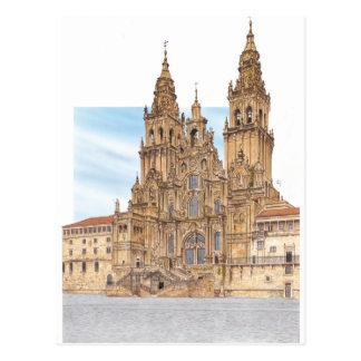 Santiago de Compostela. Western façade. Spain Postcard