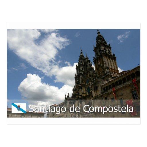 Santiago e Compostela, Espanha Post Card