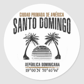 Santo Domingo Classic Round Sticker