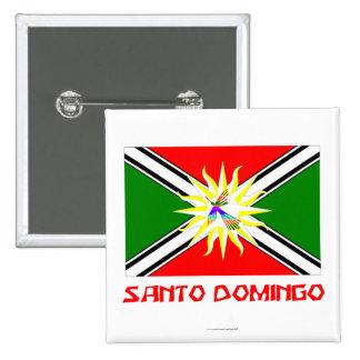 Santo Domingo flag with Name 15 Cm Square Badge