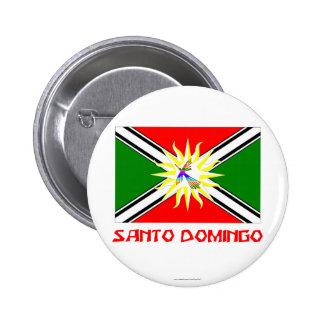 Santo Domingo flag with Name 6 Cm Round Badge