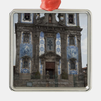 Santo Ildenfonso Church With Tile Panels Christmas Ornament