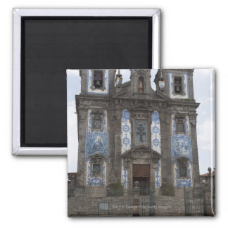Santo Ildenfonso Church With Tile Panels Square Magnet