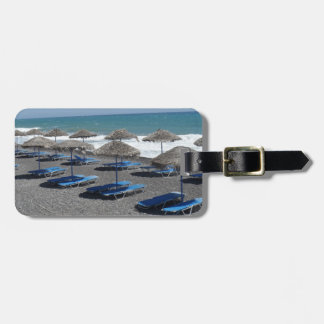 Santorini Beach, Greece Luggage Tag