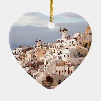 Santorini Beauty Ceramic Heart Decoration