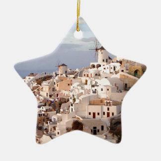 Santorini Beauty Ceramic Star Decoration