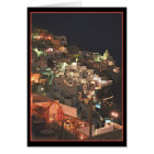 Santorini by night   (blank inside) card
