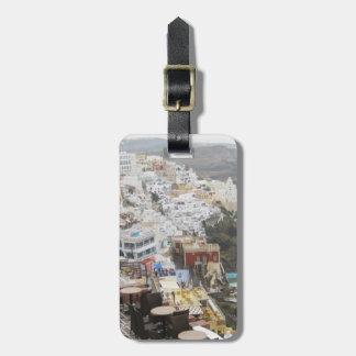 Santorini Caldera Tag For Bags