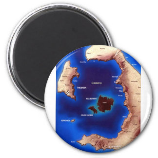 santorini-caldera-map.jpg 6 cm round magnet