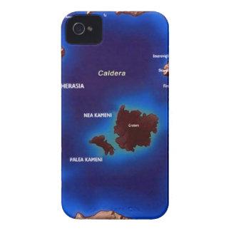 santorini-caldera-map jpg iPhone 4 Case-Mate cases
