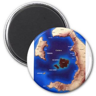 santorini-caldera-map jpg magnet