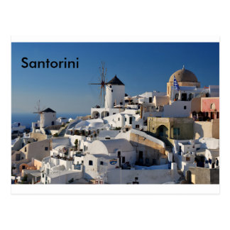 Santorini Canvas Postcard