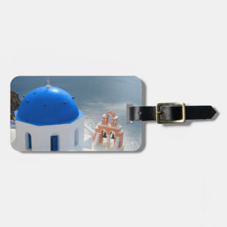 Santorini Church in the Afternoon Sun Luggage Tag