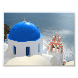 Santorini Church in the Afternoon Sun Photo Print