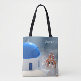 Santorini Church in the Afternoon Sun Tote Bag