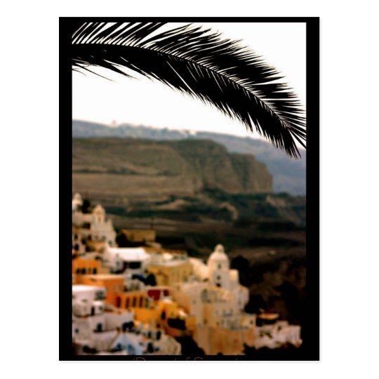 Santorini, Greece Art PostCard